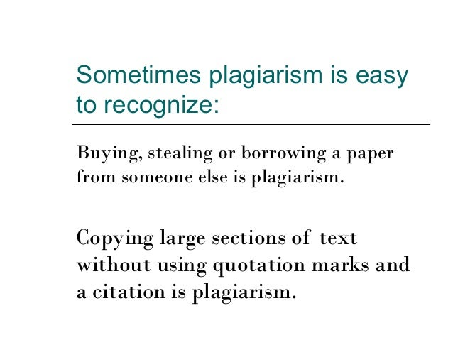 Plagiarism in writing papers