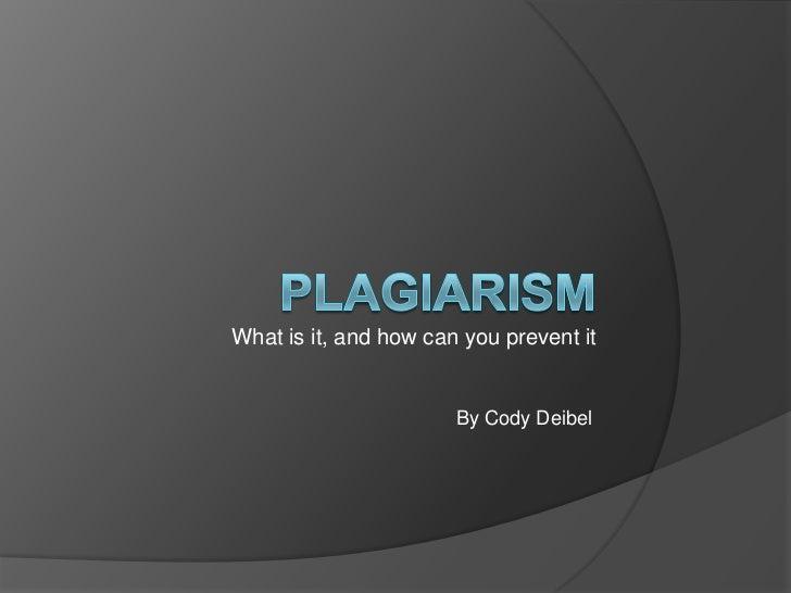 Plagiarism (For Dr. Cassity)