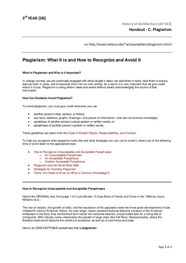 answers to plagiarism test indiana university