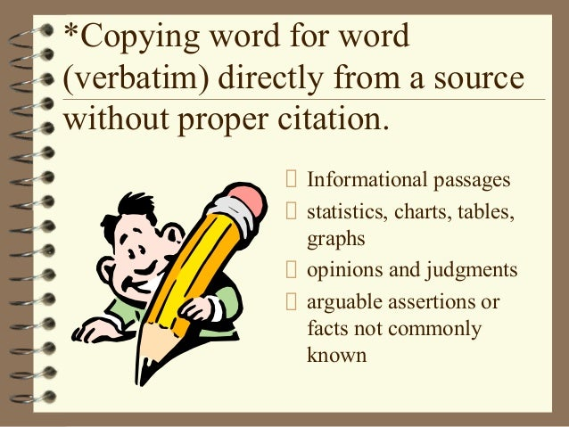 Word for word plagiarism