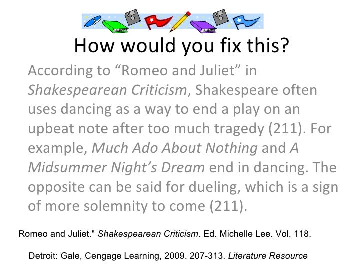 How to site a play in an essay?
