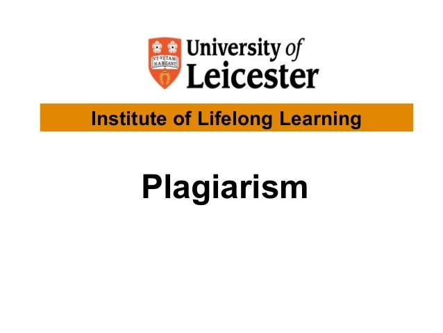 Plagiarism Institute of Lifelong Learning