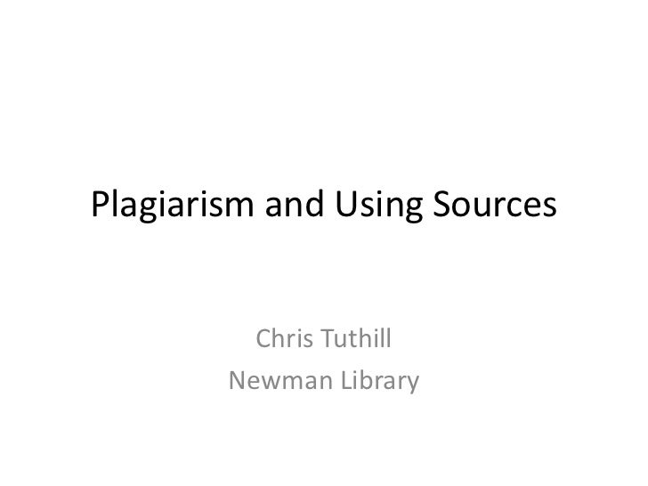 Plagiarism and using sources