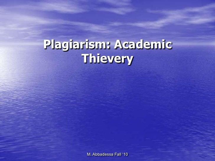 Plagiarism Orientation 2012