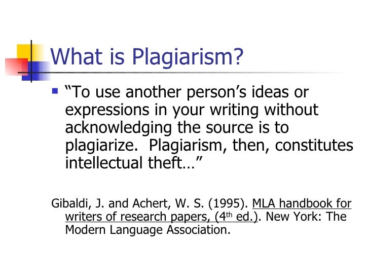 """What is Plagiarism? <ul><li>"""" To use another person's ideas or expressions in your writing without acknowledging the sourc..."""