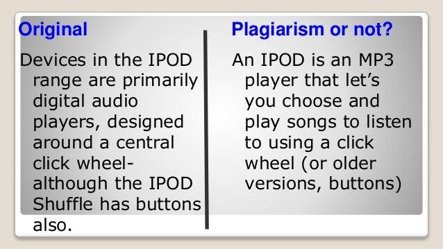 Paraphrasing vs plagiarism