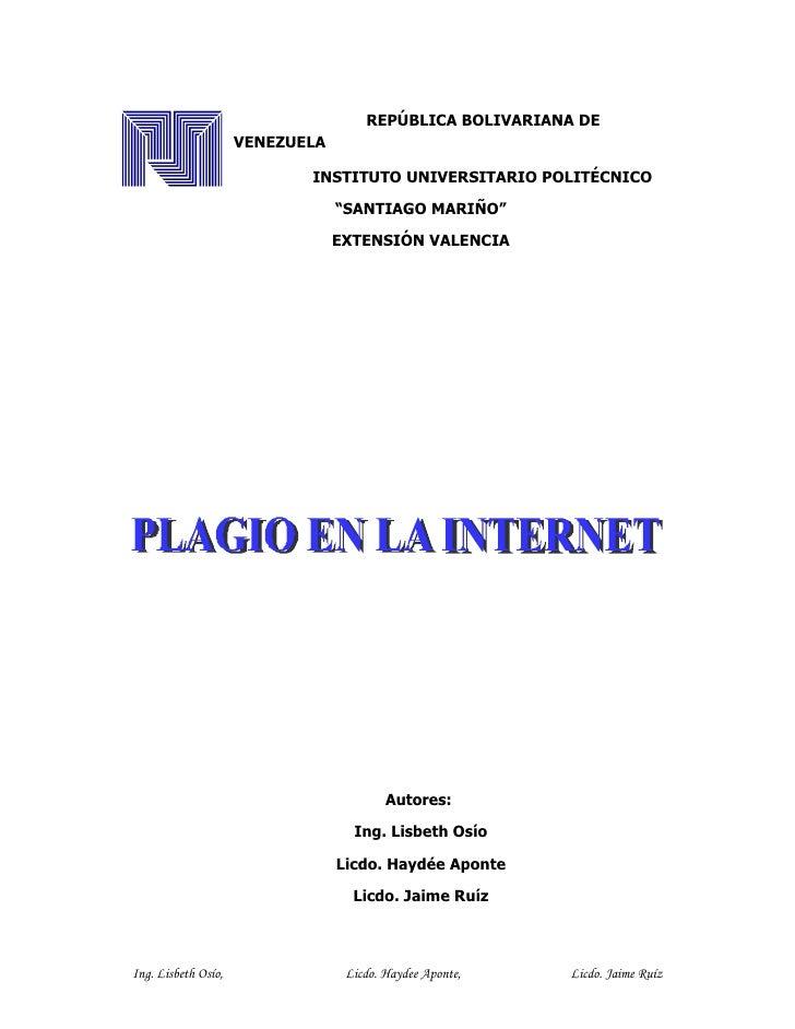 Plagio en la Internet