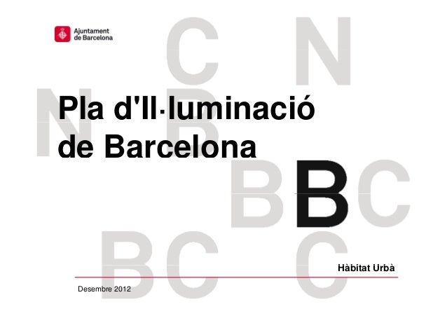 Pla illuminacio de Barcelona