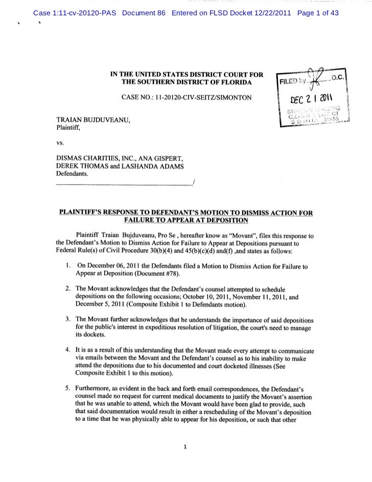Case 1:11-cv-20120-PAS Document 86 Entered on FLSD Docket 12/22/2011 Page 1 of 43 h                       I THE I NI      ...