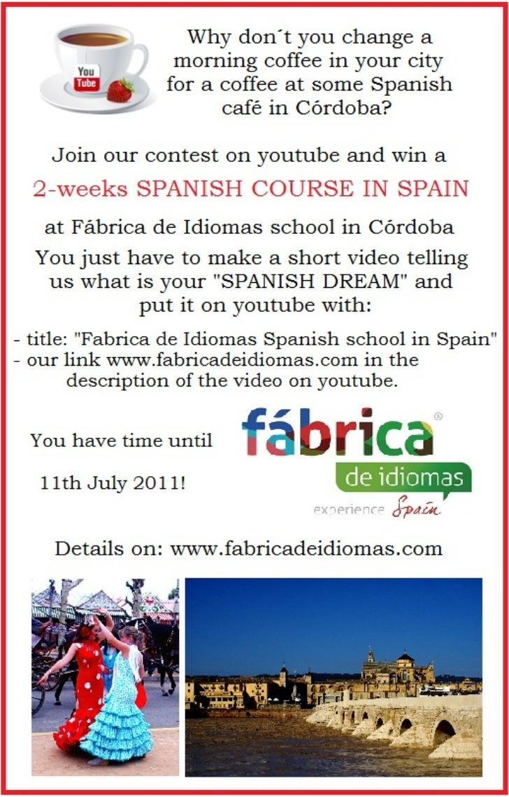 Win 2weeks Spanish course in Spain
