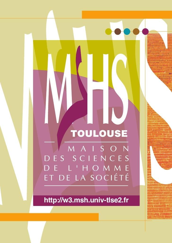 Plaquette de la MSHS-T