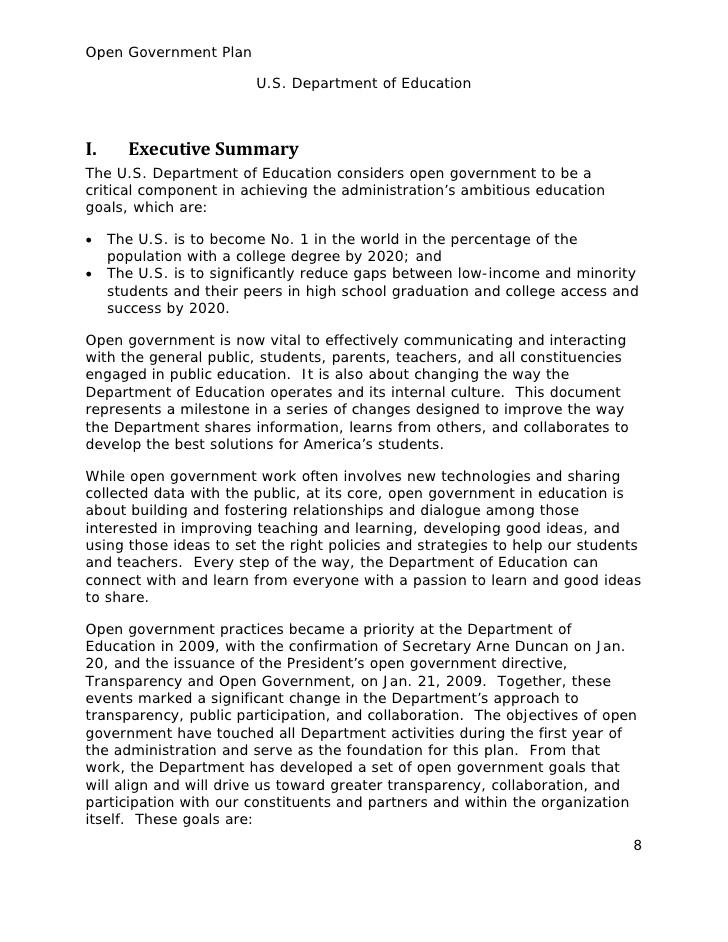 ED Open Gov Plan