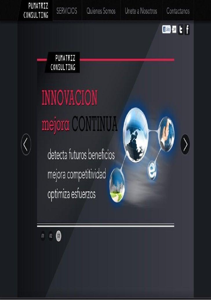 Introduccion a losnegocios InteligentesSobre Internet e inducciónal plan de trabajo dePumatriz Consulting.Del mercado espa...