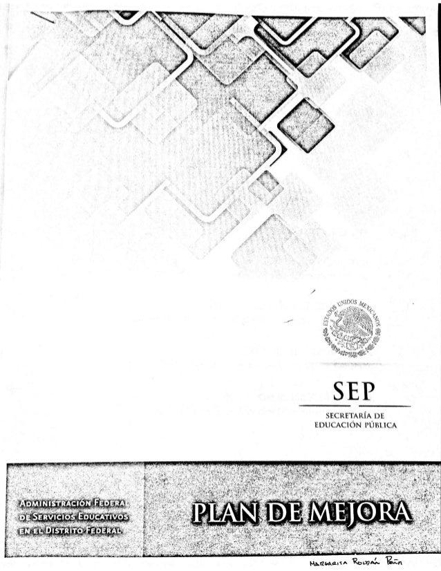 Guía para el Plan de mejora CTE 2013 AFSEDF
