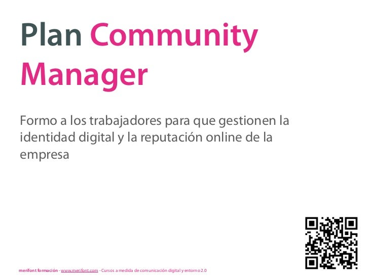 Plan Community Manager