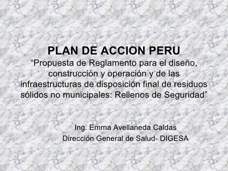 PLAN DE ACCION PERU