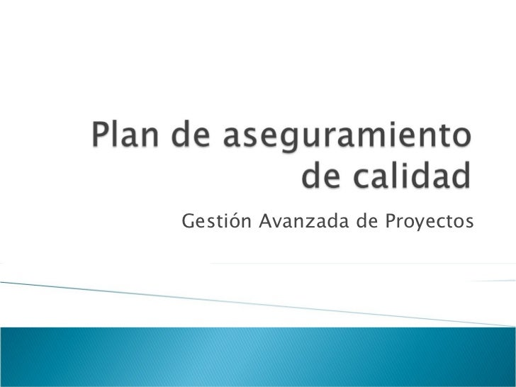 Gestión Avanzada de Proyectos