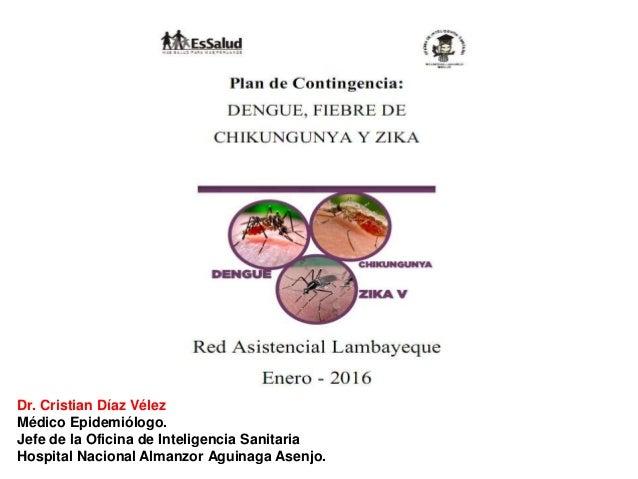 Dr. Cristian Díaz Vélez Médico Epidemiólogo. Jefe de la Oficina de Inteligencia Sanitaria Hospital Nacional Almanzor Aguin...