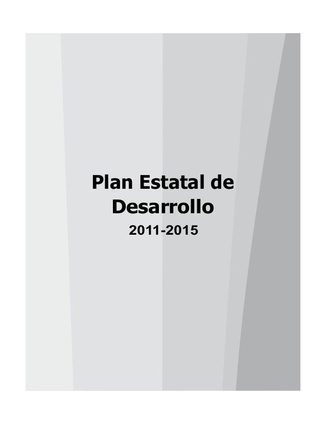 Plan Estatal de Desarrollo 2011-2015
