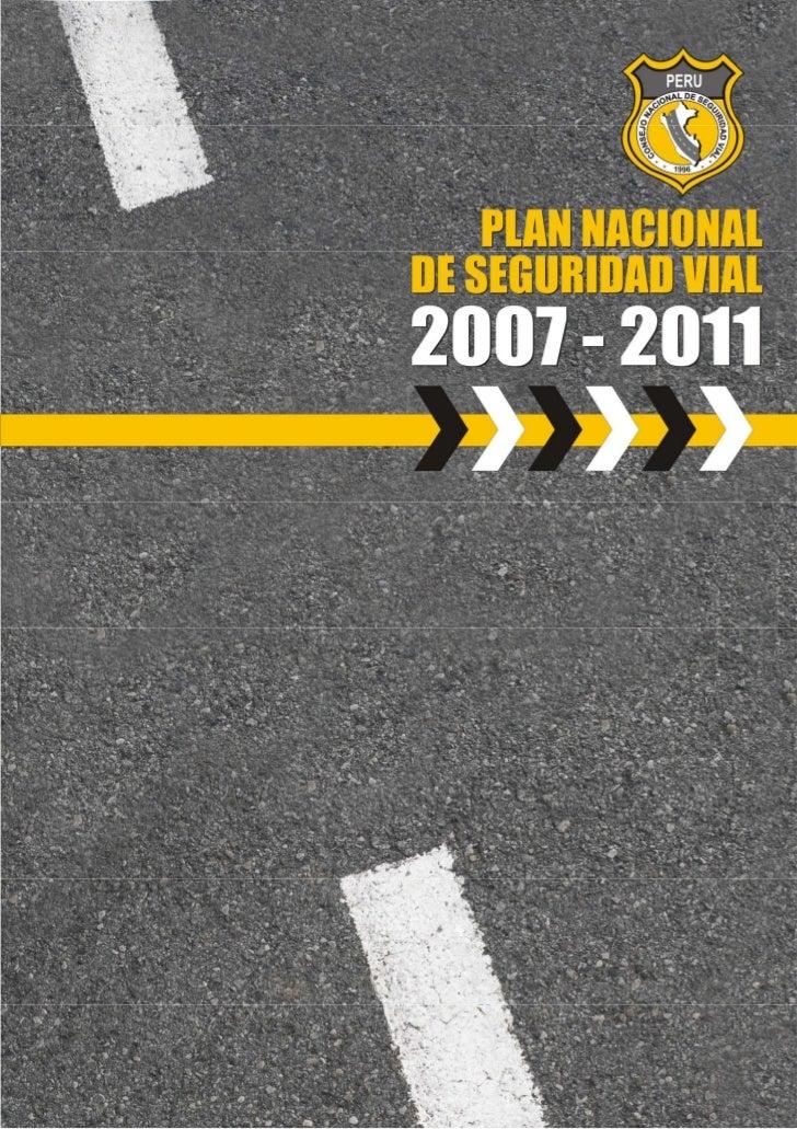 Plan Nacional De Seguridad Vial 2007 2011