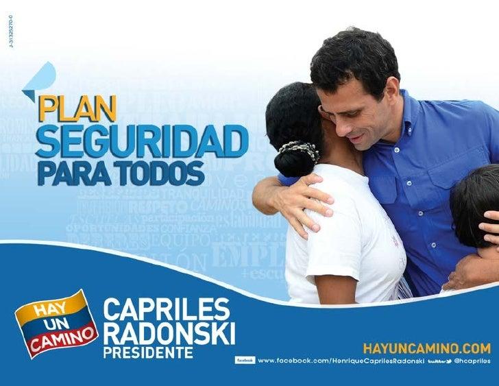 Plan seguridad-Henrique Capriles Radonski