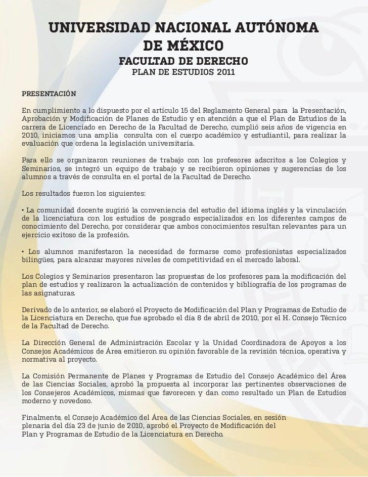 UNIVERSIDAD NACIONAL AUTÓNOMA                  DE MÉXICO                             FACULTAD DE DERECHO                  ...