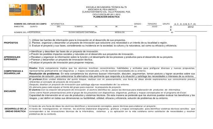 ESCUELA SECUNDARIA TÉCNICA No.79                                                                         ASOCIADA AL PEA-U...