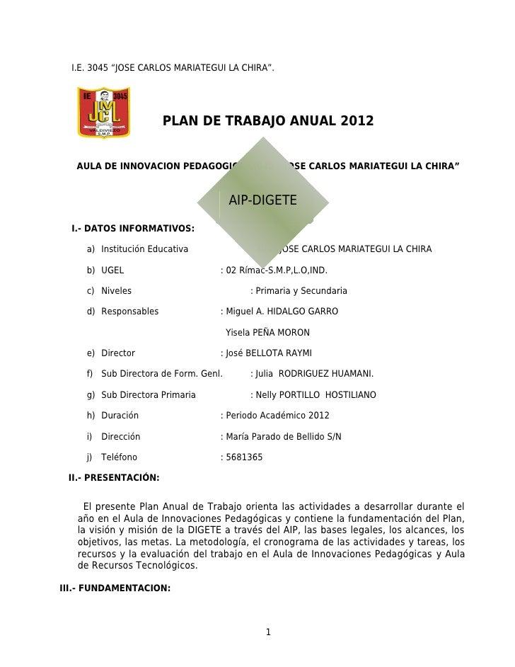 Plan 2 aip 2012