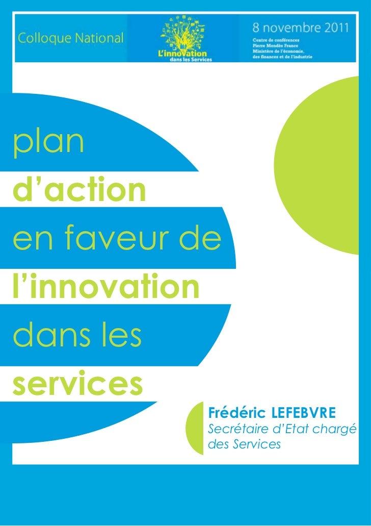 Plan action en faveur innovation services novembre 2011