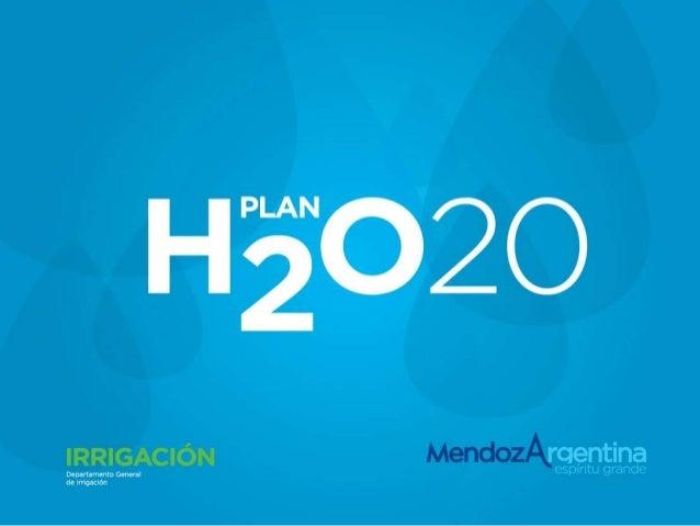 Plan agua 2020 Mendoza