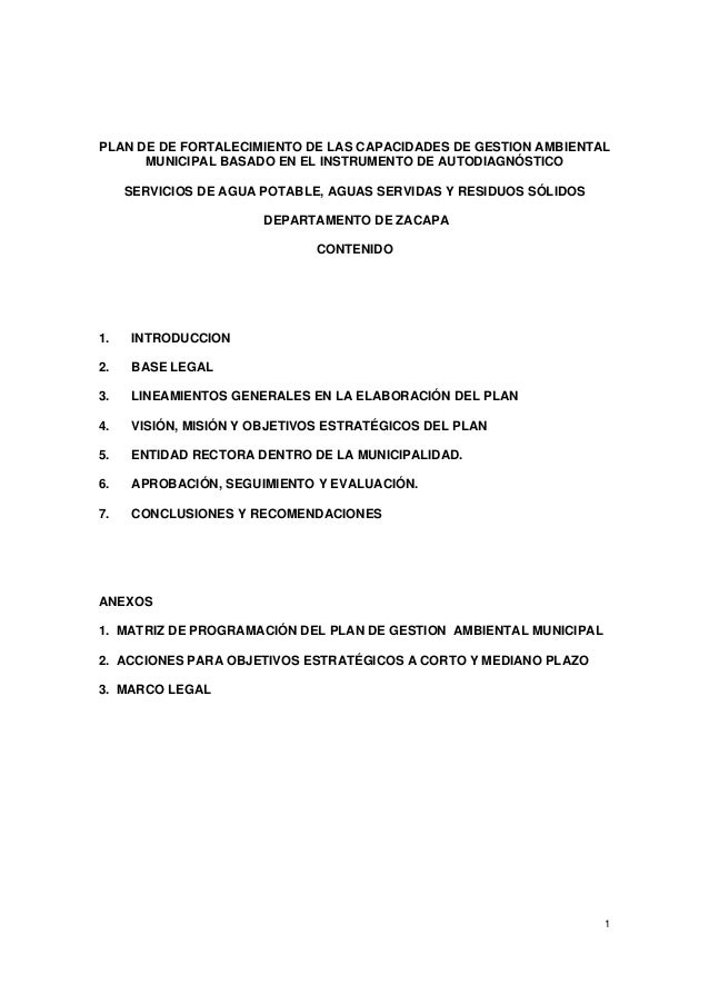 Plan ambiental municipios de zacapa