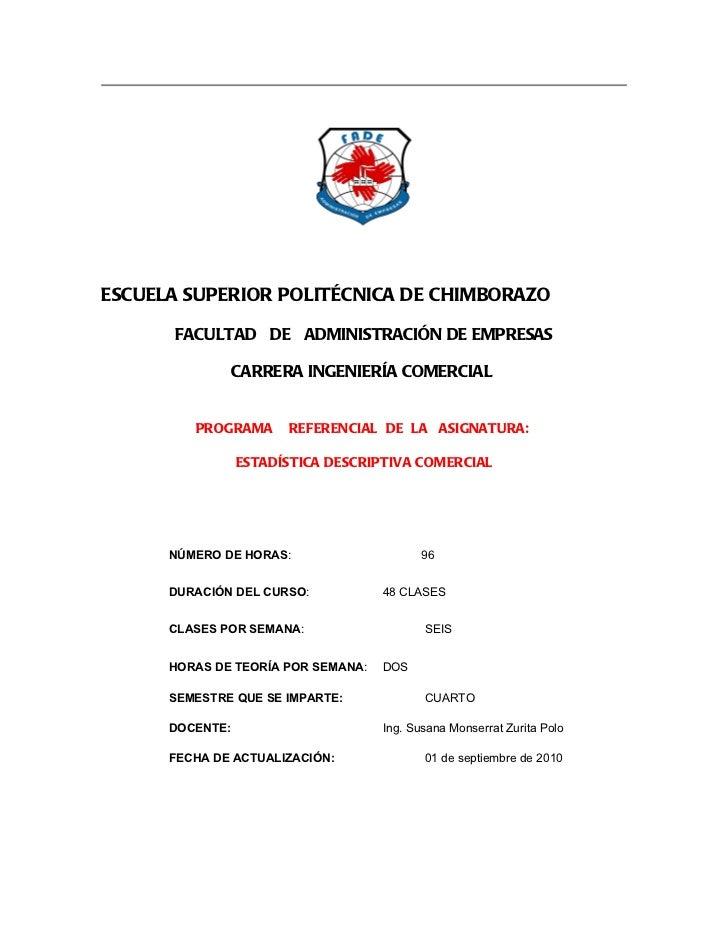 ESCUELA SUPERIOR POLITÉCNICA DE CHIMBORAZO      FACULTAD DE ADMINISTRACIÓN DE EMPRESAS                 CARRERA INGENIERÍA ...