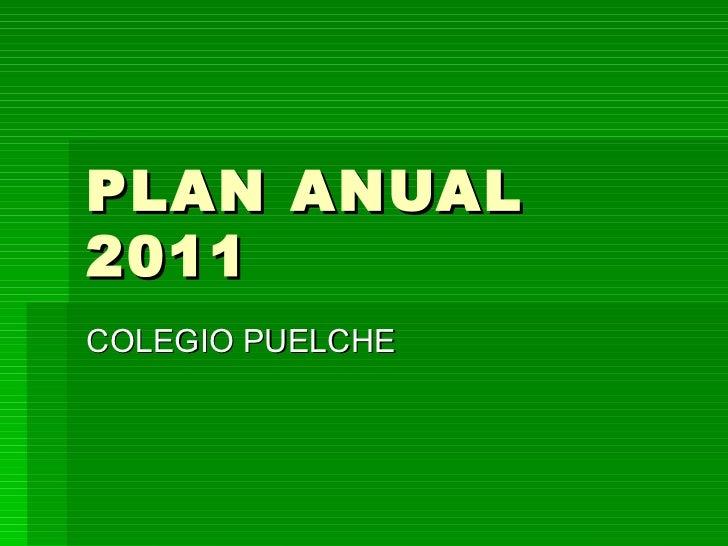 PLAN ANUAL 2011 COLEGIO PUELCHE