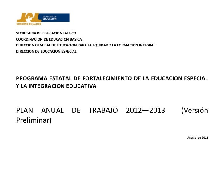 Plan anual 2012   2013 version preliminar