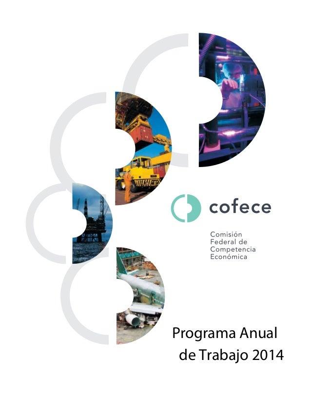 Plan Anual de Trabajo 2014 COFECE