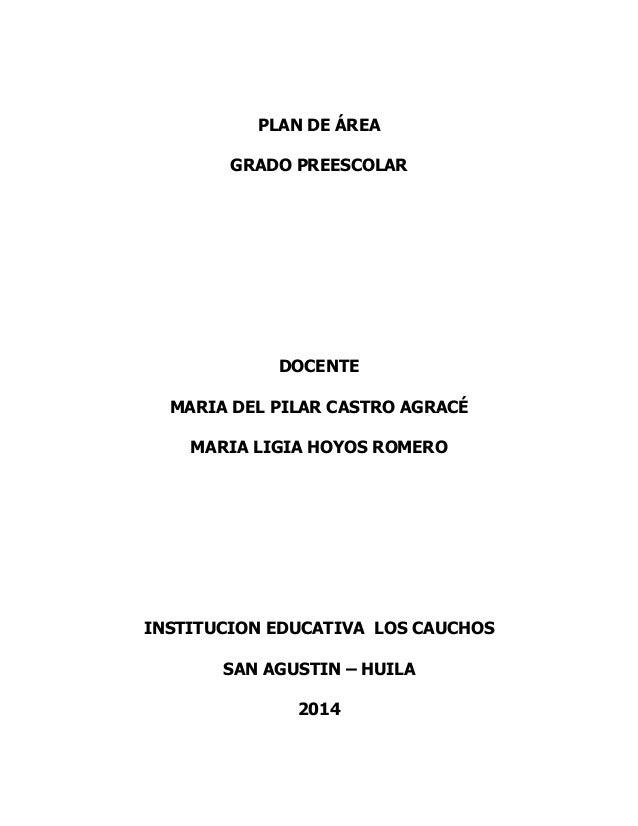 Plan De Area Grado Preescolar Slideshare   MEJOR CONJUNTO DE FRASES