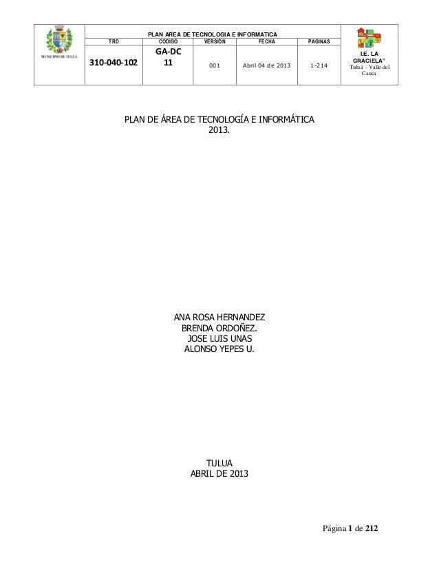 Plan area tecnologia 2013