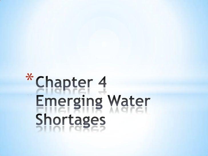 Plan B 3.0 Audio Book Chapter 4 Emerging Water Shortages
