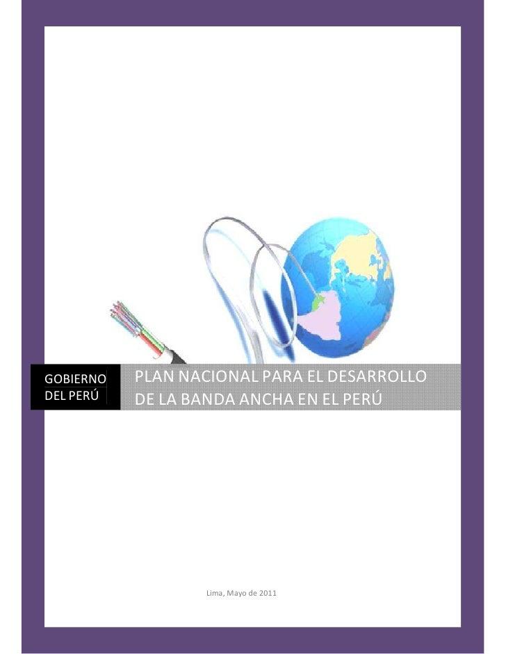 Plan Nacional de Banda Ancha en el Perú