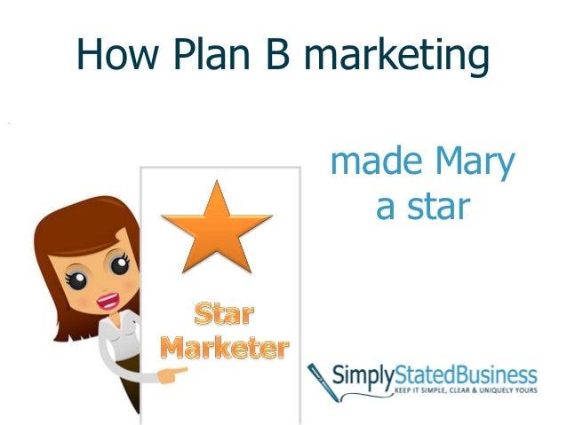 How Plan B marketing made Mary a star