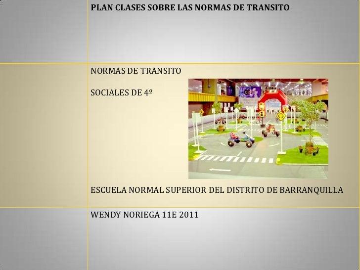 Plan clase transito