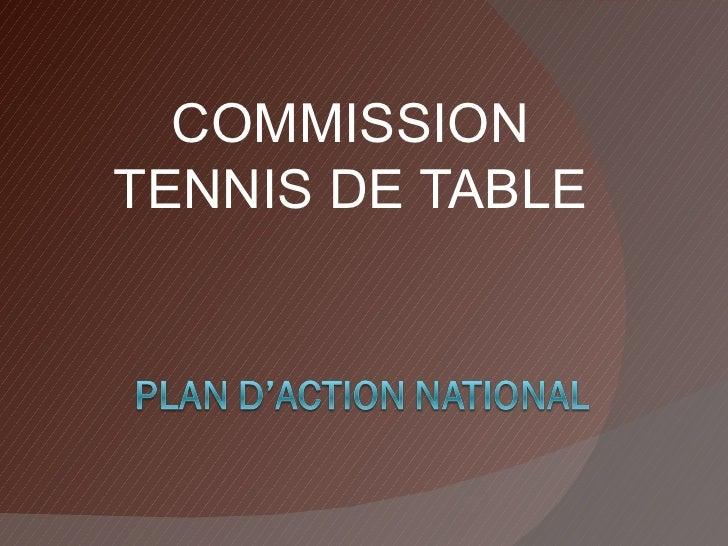 COMMISSION TENNIS DE TABLE