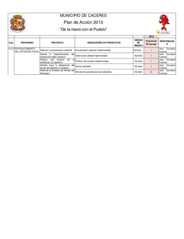 Plan de acci+¦n 2013   sec hacienda