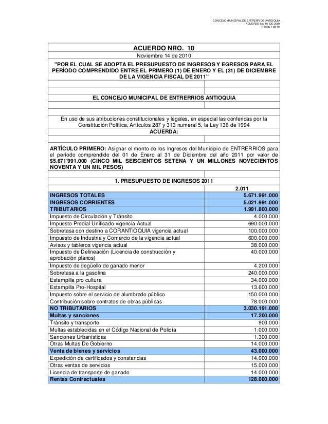 CONCEJO MUNICIPAL DE ENTRERRÍOS ANTIOQUIA                                                                                 ...