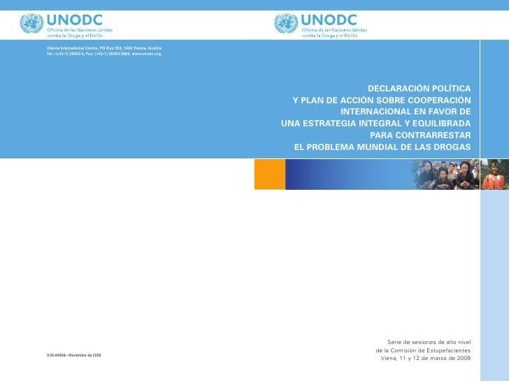 Plan de acción para contrarestar el problema de las drogas (onu)