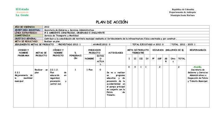 Plan de accion gobierno