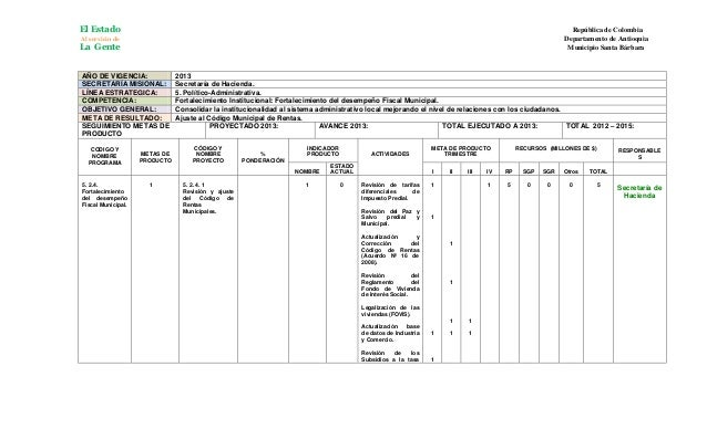 Plan de accion hacienda   2013