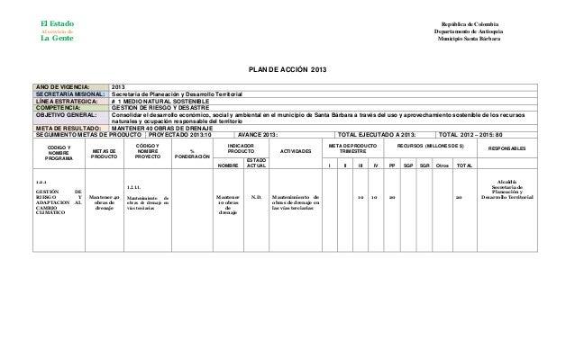 Plan de accion planeacion   2013