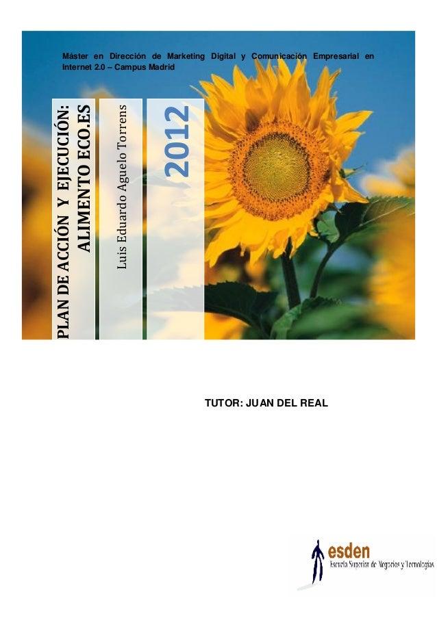 Plan de Accion y Ejecutivo AlimentoECO Luis Aguelo ESDEN Business School