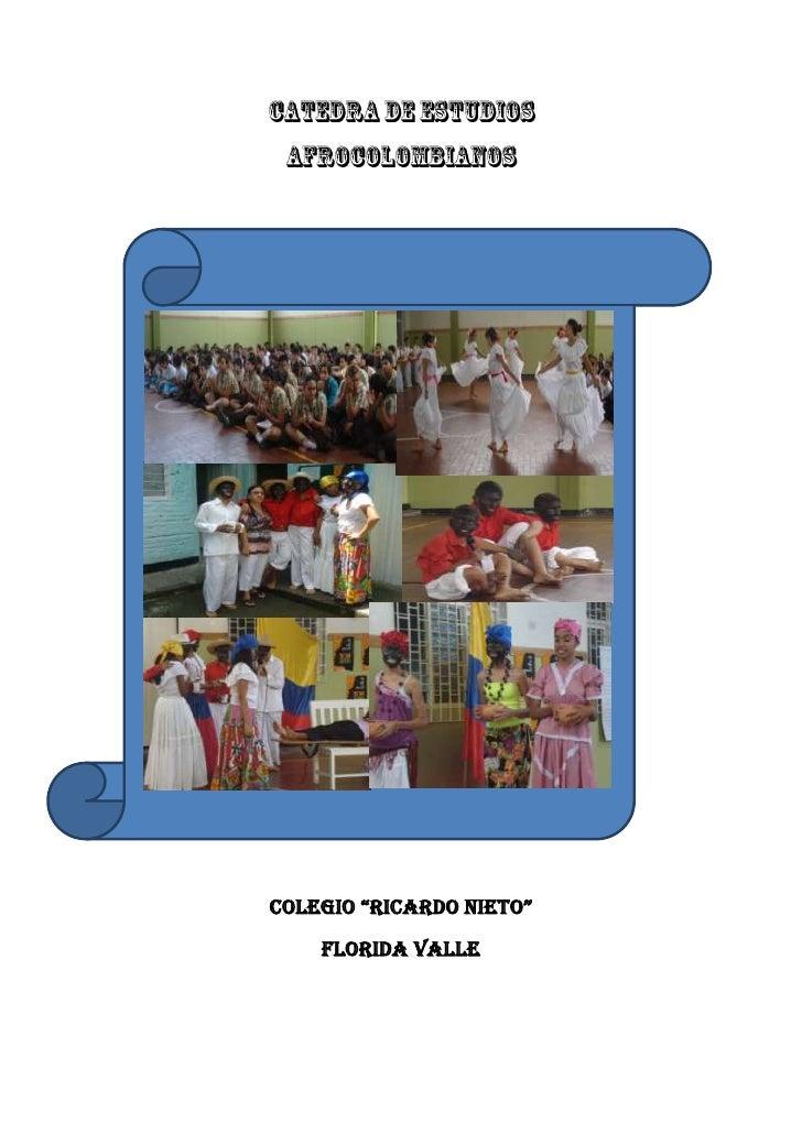 Plan de area Cátedra Afro